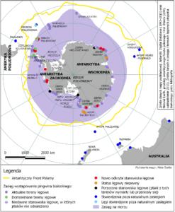 Galeria map - Zasięg pingwina białookiego