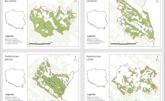 Mapy wykonane przy pomocy funkcji Atlas w QGIS