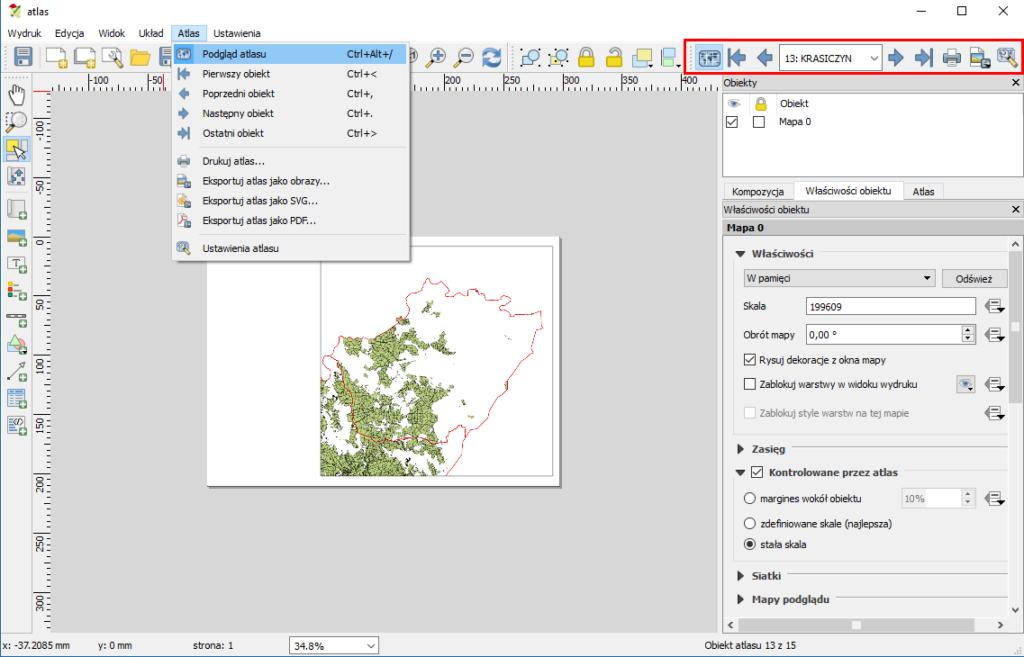 Jak włączyć podgląd atlasu w QGIS