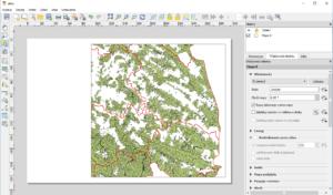 Okno wydruku mapy w QGIS
