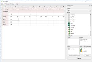 Wtyczka QGIS Group Stats - analiza danych wariant 1