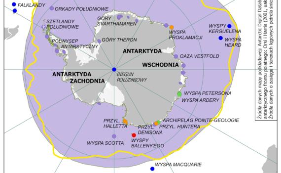 Galeria map - Zasięg petrela śnieżnego