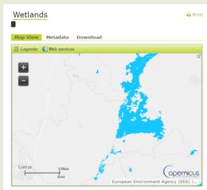 Wysokorozdzielcze dane rastrowe - Obszary podmokłe (HR Wetlands)