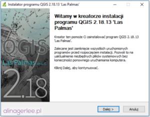 QGIS - jak zainstalować program - początek