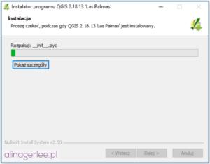 QGIS - jak zainstalować program - instalowanie