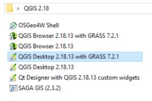 QGIS - skróty na pulpicie