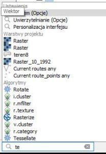 QGIS 3 - wyszukiwanie w Lokatorze
